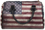 styleBREAKER & Handbag Vintage USA Stars and Stripes Design in Bowling bag, handbag, women's 02012014