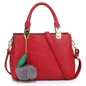 Womens Handbags Designer Three Compartments Shoulder Bags For Ladies And Girls Top Handle Bag Fluffy Bag Charm And Metal Studs On The Bottom Of The Bag