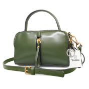 Yoome Retro Bags For Shoulder Top Handle Bag Vegan Leather Ladies Purse Satchel Bags For Girls - Green