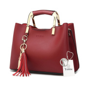 Yoome Clutch With Tassels Tote Purses Elegant Bags For Charm Casual Bags For Women Crossbody - Burgundy