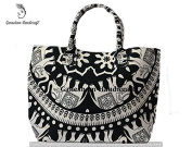 Black & White Tapestry Hippie Gypsy Cotton Tribal Bags Handmade Mandala Bags Ethnic Bags Hand Shoulder Boho Bohemian Hobo Tote Bags For Woman