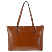 Yiwanda Women's Fashion Extra Large Genuine Leather Handbags Tote Bag Shoulder Bags