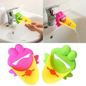 Musunas 2pcs faucet extension faucet extender for children baby hands washing bathroom cartoon animal design hand wash basin