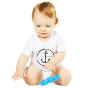 T-shirt Baby White Anchor Logo - White