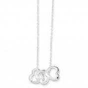 Sterling Silver Polished Fancy Heart Necklace