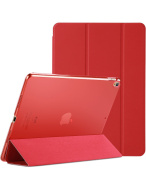 ProCase iPad Pro 10.5 Case 2017, Ultra Slim Lightweight Stand Smart Case Shell with Translucent Frosted Back Cover for All-New Apple iPad Pro 27cm –Red