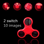 LED Fidget Spinner EDC Anti Stress Toys Finger Spinner Brass Hand Spinners lights glow spinners