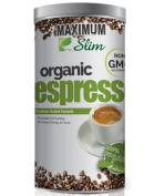 MAXIMUM SLIM ESPRESSO:Gourmet - 100% Arabica Coffee,Certified Organic, Formulated with Natural Herbal Extracts to PROMOTE FAT BURNING,ENERGY & FOCUS