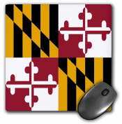 3dRose State Flag of Maryland - US American - Heraldic banner of George Calvert 1st Baron Baltimore America, Mouse Pad, 20cm by 20cm