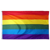 Cp Rainbow Flag Gay Pride Lesbian Banner Striped Event Pennant LGBT Sign New 3x5