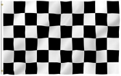 Chequered - Racing Outdoor Flag - Large 0.9m x 1.5m Banner Nascar Black & White , Weather-Resistant