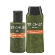 Trichup Hair Fall Control Kit (Hair Fall Control Oil 2 x 200ml, Hair Fall Control Shampoo 200ml)