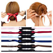 3pcs Braid Style Hair Bun Maker with Ribbon,Women Girls Beauty Crown and Donut Shaper Donut Hair Style Hair Roller Headband Magic DIY Curler Roller Hair Styling Tool Party Hair Accessories by DAXUN