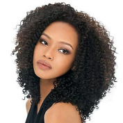 MZP African American Ombre 1B/30# Capless Human Hair 46cm Middle Long Length Woman Wig , dark brown