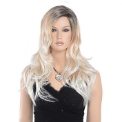 MZP New Arrival Black to Blonde Ombre Synthetic Wigs Ombre Body Wave Heat Resistant Hair Synthetic Wigs , blonde