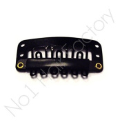 Hair Extension Snap Clips for Wig Weft 32mm / 3.2cm - Black - 32 mm x 16 mm - Qty-30
