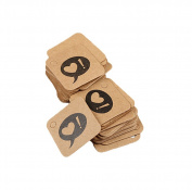 Lumanuby 100 Pcs Kraft Paper Gift Tags Lovely Bookmark Label Rectangle with Heart Design Glass Bottles Hanging Message Card