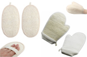 4Pcs Loofah Shower Helpers