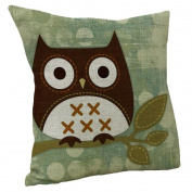 KFSO Children Cartoon Cute Animal Pillow Cover Throw Pillow Case Sofa Cushion Bedroom Decor 45X45cm