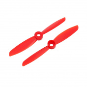 2 Pcs EP-4045 Vane Aircraft Plane Propeller Flight CW CCW 10cm Red w Adapter Rings