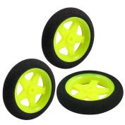 3pcs Electric RC Aircraft Landing Sponge Wheel Tyre D36mm H8mm Black Lime