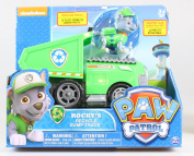 Paw Patrol Rocky's Recycle Dump Truck Vehicle with Rocky Figure