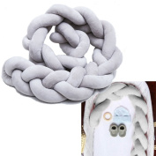"Baby Crib Bumpers Braids Protective Snake Pillow Home Decoration 39"" 59"" 79"""