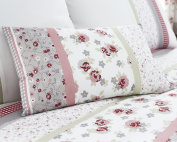 Limited Edition Easy Care Garden Pink Floral Bed Linen Filled Boudoir Cushion