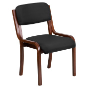 Flash Furniture Contemporary Black Fabric Wood Frame Side Chair