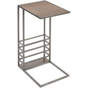 Better Homes and Gardens Wood & Metal Accent Table with Magazine Holder