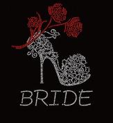 Bride Wedding Rhinestone Iron on Transfer