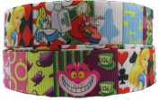Alice in The Wonderland 2.5cm Wide Repeat Ribbon Sold in Yard Lots