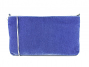 LONI British Hand Made Suede Velvet Clutch Shoulder Wristlet Bag