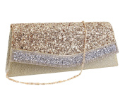 Multi-mo Flap Dazzling Clutch Bag Evening Bag With Detachable Chain
