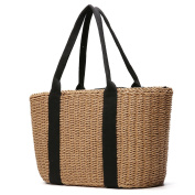 Women Straw bag, Tezoo Summer Beach Bag Wicker Woven Shoulder Bag with Long Handle Design Handmade Tote Bag for Shopping Holiday and Daily Use …