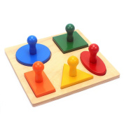Montessori Materials Teaching Aids Toys Geometry Shape Solide Wood Five Types of Geometric Shapes Board Math Toys
