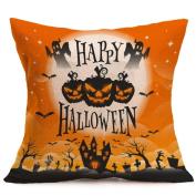 Gallity 45 x 45cm 18 x 18inch Halloween Pillows Cover Decorations Decor Halloween Throw Pillow Case Sofa Waist Throw Cushion Cover Home Decor Square