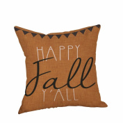 Pillow Case Covers with zipper ,Gallity Happy Halloween Pillow Cases Linen Sofa Cushion Cover Home Decor