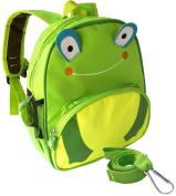 3D Frog Toddler Safety Harness +Detachable Leash Backpack by Boxiki Kids. Little Kids Anti-Lost Backpack. Lightweight Animal Backpack for Kids. Small backpack for kids with Toddler Harness
