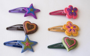 Pack of 6 Forks Heart, Flower and Star. .