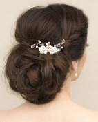 Jovono Wedding Flower Hair Accessories Pins Bridal Headpieces for Women and Girl