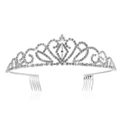ROKOO Wedding Bridal Tiara Crown Crystal Rhinestone Party Jewellery Hair Comb Bridesmaid Hairwear