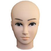 MSmask Female Mannequin Head Display Eyelash Wig Stand Hat Cap Makeup Dummy Glasses