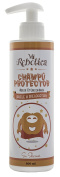 MI REBOTICA PROTECTIVE SHAMPOO 300 ML PEACH SMELL, EXTRA SOFT SHAMPOO, SILCONES & DYES FREE, BASED ON ACTIVE INGREDIENTS OF TEA TREE EXTRACT AND QUASSIA VINAGAR, ACTS AS REPELLENT AND PROTECTER