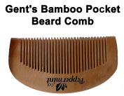 Peppermint Cafe Gent's Pocket Beard Comb - Finest quality bamboo, Anti Static, No Snag - Perfect for Oils & Balms - Pocket Size - Wooden Beard Comb
