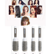 IGEMY Professional Ceramic Round Barrel Hair Brush Iron Radial Comb for Curling