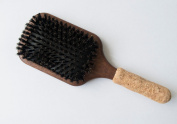 Paddle Brush 100% Boar Bristles cork handle, easy grip