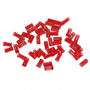 MagiDeal 50pcs Hair Ring Braiding Clips Dreadlock Cuffs Clip Beads For Braiding Hair - Red, as described
