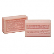 French Soap, Traditional Savon de Marseille - Eglantine Rose 60g