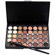 Greatlizard 40 Colour Earth Colour Small Disc Eye Shadow Palette Eye Shadow Disc Long Lasting Makeup Set Kit